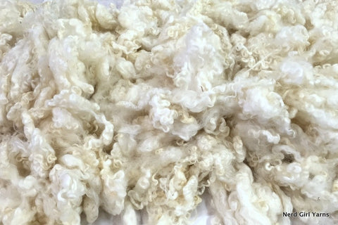 White Border Leicester Washed Fleece - 2oz incremements