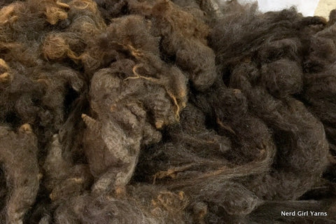 Brown Romney Washed Fleece - 2oz incremements