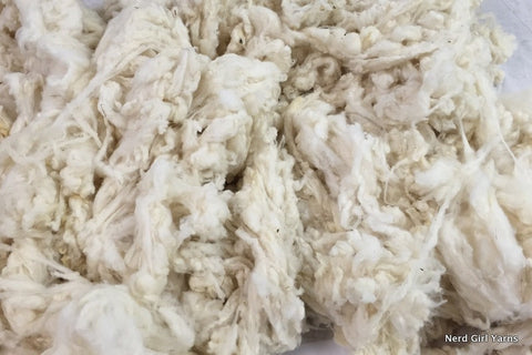 White Rambouillet Washed Fleece - 2oz incremements