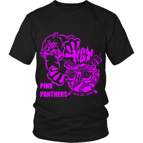 Pink Panthers Team Booster T-shirt & Hoodie (black)