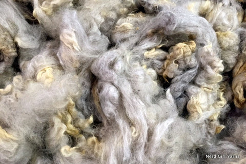 Silver/Carmel Romney Washed Fleece