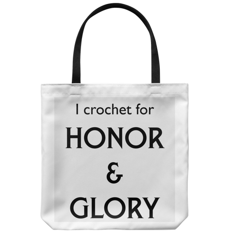 For Honor & Glory (crochet) Totebag