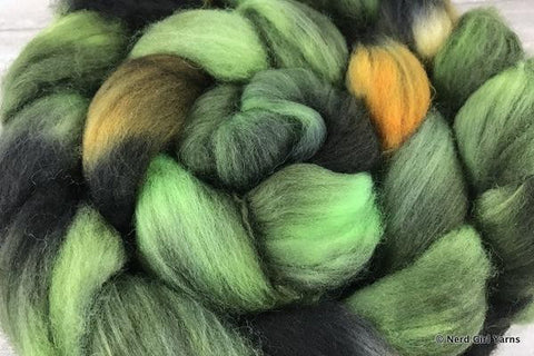 Ugly on the Outside Too - SW Merino/Nylon 70/30 Combed Top In Stock