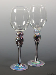 Rosetree Blown Glass Stemware
