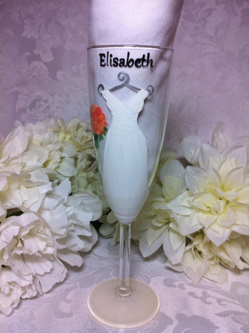 BRIDE'S CHAMPAGNE GLASS