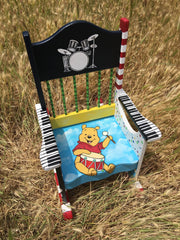 Hand Painted Child's Rocking Chair