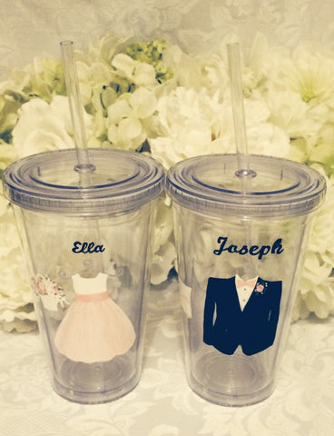 RING BEARER & FLOWER GIRL TUMBLERS