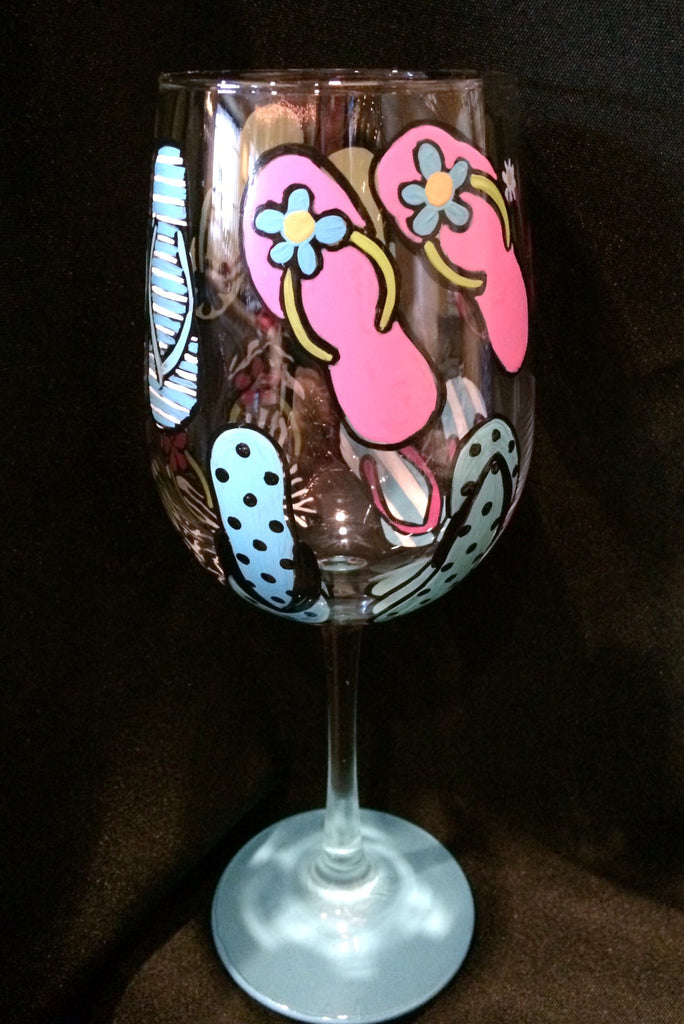 FLIP FLOPS WINE GLASS