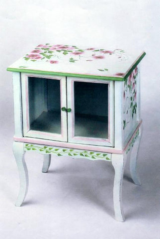 SMALL CURIO CABINET CUSTOM DESIGN AND PAINTING