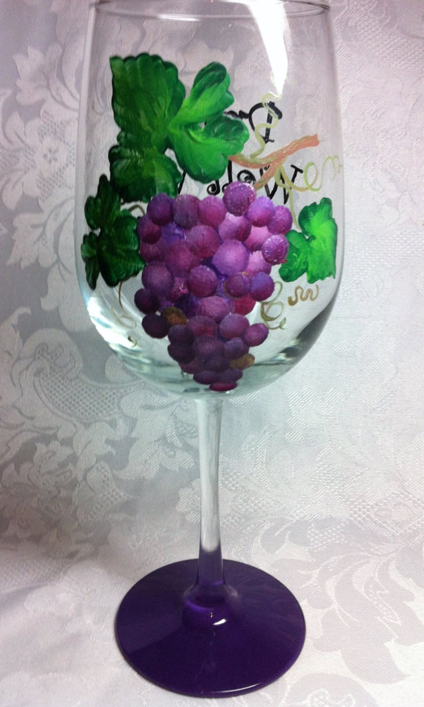GRAPE CLUSTER WINE GLASS