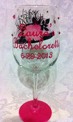 KENTUCKY DERBY WINE GLASSES 6 GLASSES