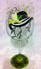 SUNFLOWER HAT WINE GLASS