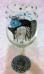FLOPPY HAT WINE GLASSES 4 GLASSES