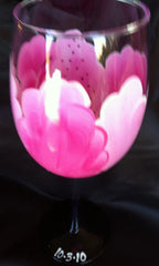 STARGAZER LILY WINE GLASS