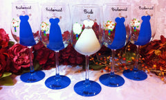BRIDESMAID DRESS GLASSES 5 glasses