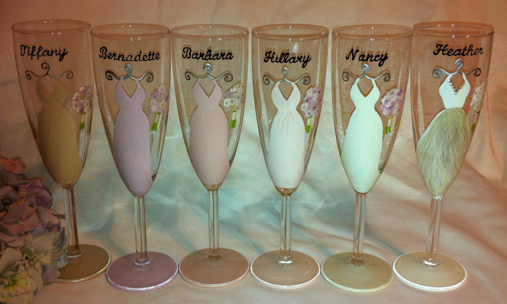BLUSH BRIDESMAID DRESS GLASSES