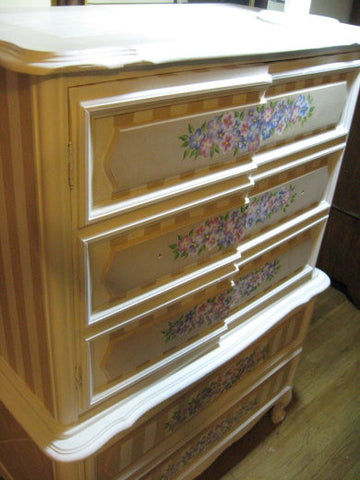HAND PAINTED SEWING CABINET