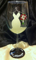 BRIDE'S WINE GLASS