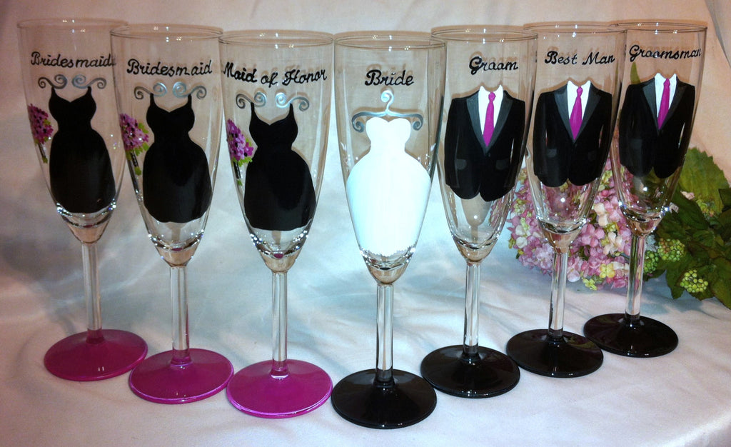 WEDDING GLASSES 7 glasses