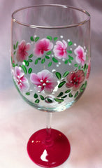 PURPLE ROSEBUD WINE GLASS