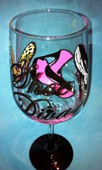 ZEBRA SHOE DIVA WINE GLASS