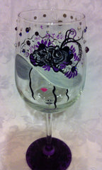 KENTUCKY DERBY WINE GLASS WITH BLING!
