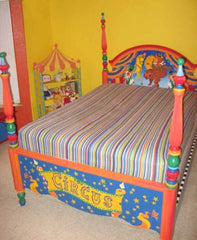 CUSTOM ORDER DESIGN AND PAINTING CIRCUS CHILD'S BED