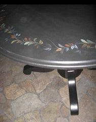 HAND PAINTED OAK TABLE