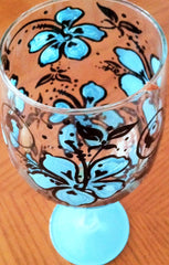 AQUA HIBISCUS WINE GLASS
