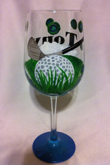 GOLFER'S WINE GLASS
