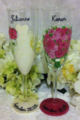 BRIDE & MOTHER OF THE BRIDE WINE GLASSES