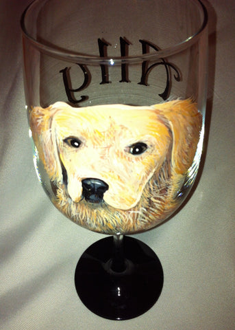 DOG PORTRAIT WINE GLASS