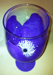 MOTHERS DAY FLOWER WINE GLASS