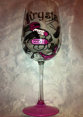 HAIR DRESSER WINE GLASS