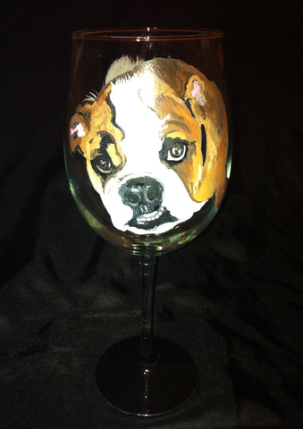 BULL DOG WINE GLASS
