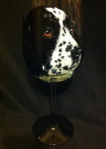 SPRINGER SPANIEL PORTRAIT WINE GLASS