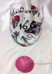 QUILTER'S WINE GLASS