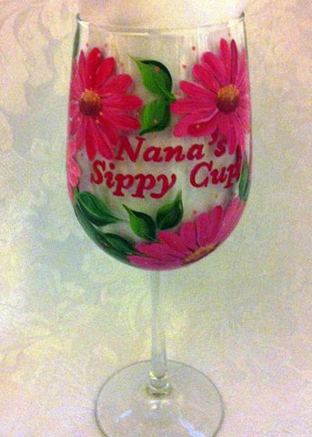 NANA'S PINK DAISY SIPPY CUP