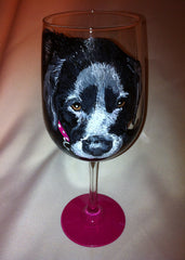BLACK DOG WINE GLASS