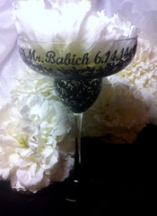 GROOM'S SWIRL MARGARITA GLASSES