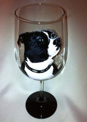 BOSTON TERRIER WINE GLASS