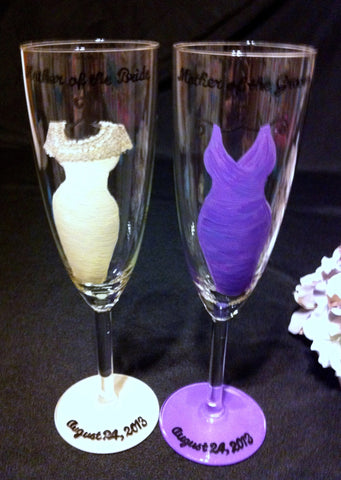 MOTHER OF THE BRIDE & MOTHER OF THE GROOM GLASSES