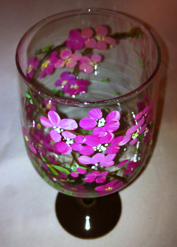 CHERRY BLOSSOM WINE GLASS