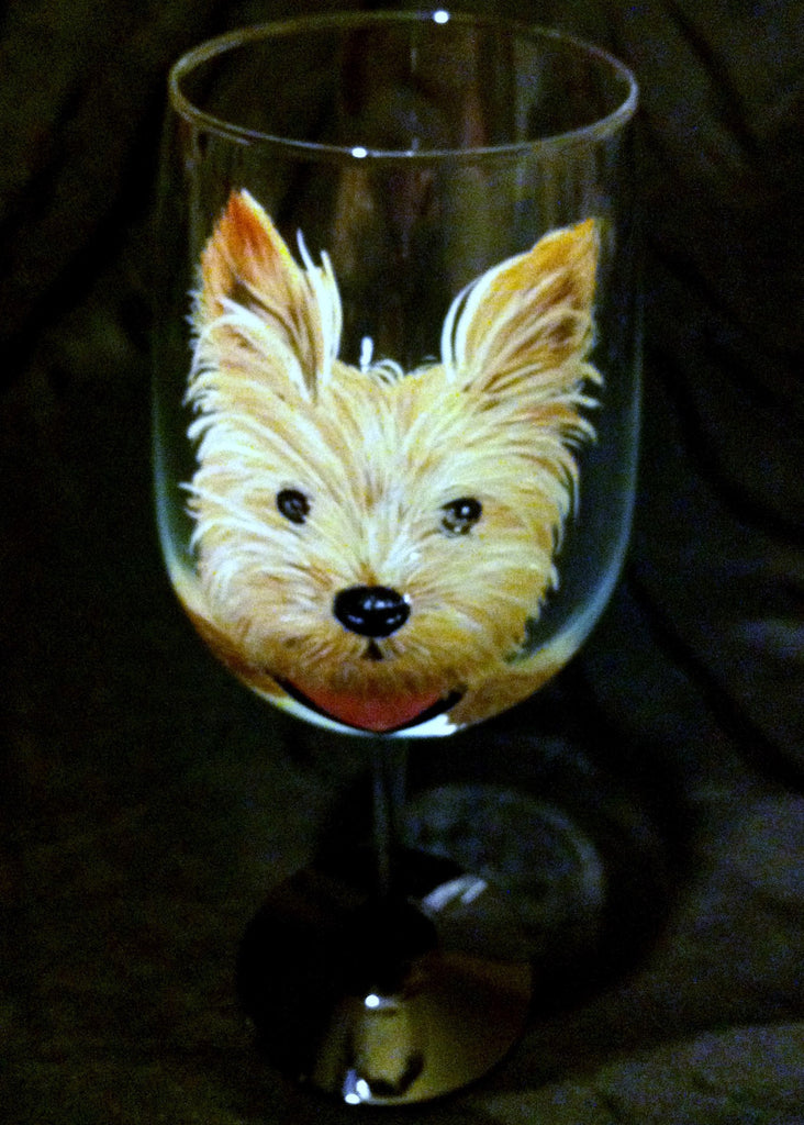 SMALL DOG BREED WINE GLASS