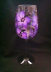PERSONALIZED HIBISCUS WINE GLASS