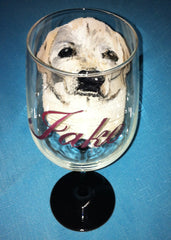 YELLOW LAB WINE GLASS
