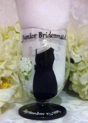JR BRIDESMAID DRESS GLASS