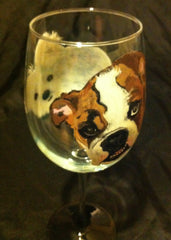 DOUBLE TROUBLE DOG PORTRAIT WINE GLASS