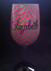FINALLY 21 ZEBRA WINE GLASS
