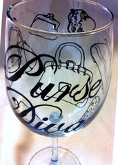 PURSE DIVA WINE GLASS